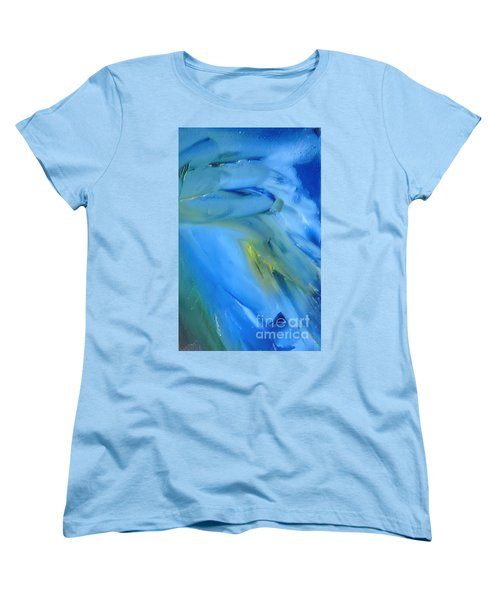 Women's T-Shirt (Standard Cut) featuring the painting Azul by Reina Resto