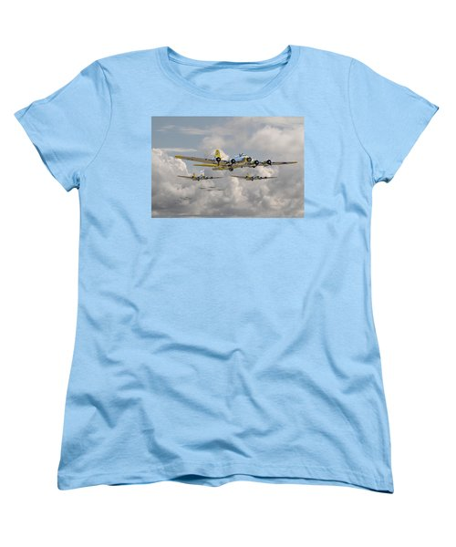B17 486th Bomb Group Women's T-Shirt (Standard Cut) by Pat Speirs