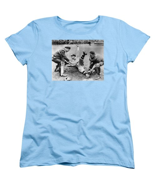 Babe Ruth Slides Home Women's T-Shirt (Standard Cut) by Underwood Archives