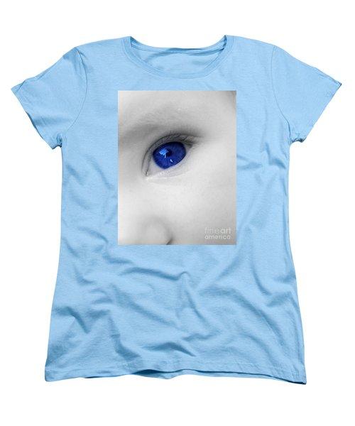 Baby Blue Women's T-Shirt (Standard Cut) by Nina Ficur Feenan