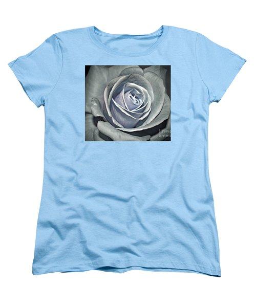 Women's T-Shirt (Standard Cut) featuring the photograph Baby Blue Rose by Savannah Gibbs