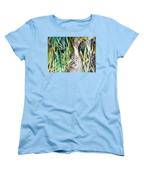 Baby Wild Turkey Women's T-Shirt (Standard Cut) by Mindy Newman