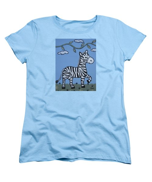 Baby Zebra Women's T-Shirt (Standard Cut) by Suzanne Theis