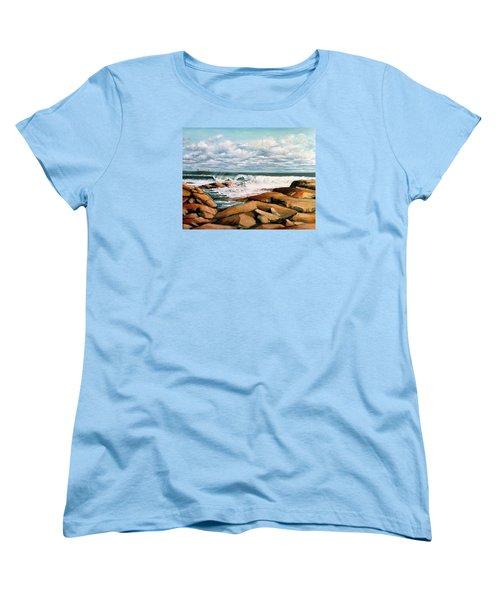 Back Shore Gloucester Women's T-Shirt (Standard Cut) by Eileen Patten Oliver