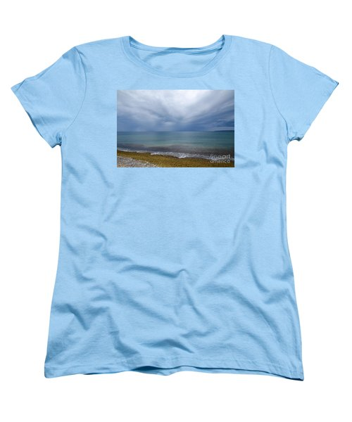Women's T-Shirt (Standard Cut) featuring the photograph Bad Weather Approaching At The Coast by Kennerth and Birgitta Kullman