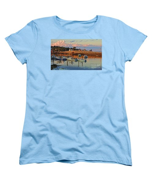 Bailey Island Bridge At Sunset Women's T-Shirt (Standard Cut) by Patrick Fennell