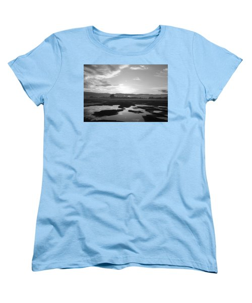 Women's T-Shirt (Standard Cut) featuring the photograph Bakersfield In Black And White by Meghan at FireBonnet Art