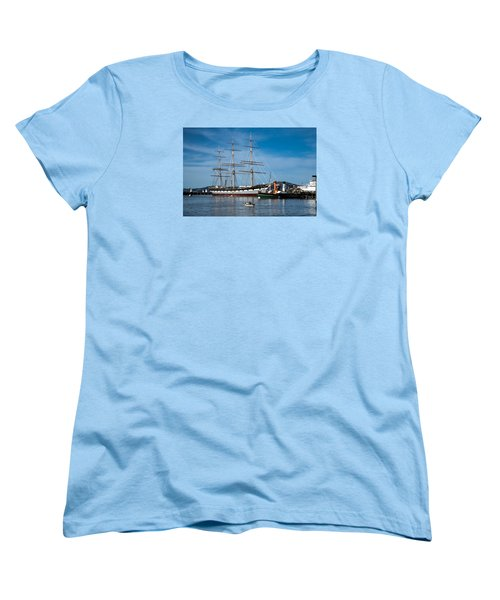 Rowing Past Balclutha And Steamship Eppleton Hall Women's T-Shirt (Standard Cut)
