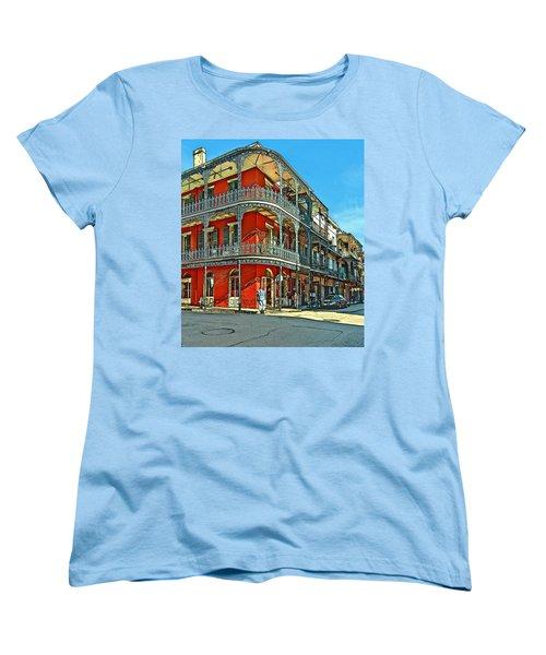 Balconies Painted Women's T-Shirt (Standard Cut) by Steve Harrington