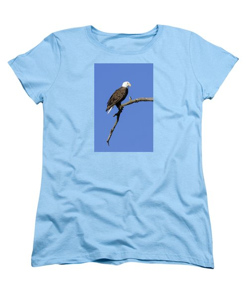 Women's T-Shirt (Standard Cut) featuring the photograph Bald Eagle 4 by David Lester