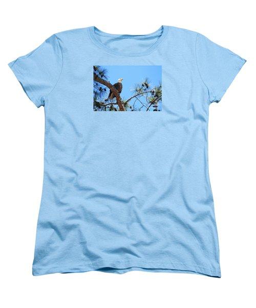 Women's T-Shirt (Standard Cut) featuring the photograph Bald Eagle by Geraldine DeBoer