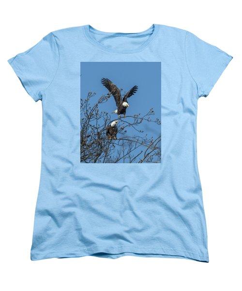 Bald Eagles Screaming Drb169 Women's T-Shirt (Standard Cut) by Gerry Gantt