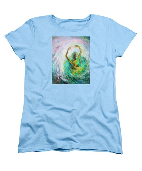 Women's T-Shirt (Standard Cut) featuring the painting Ballerina by Xueling Zou