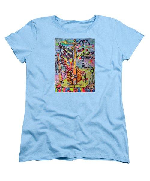 Women's T-Shirt (Standard Cut) featuring the painting Ballet/sketch/ by Viktor Lazarev
