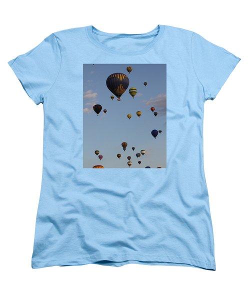 Balloon Festival Women's T-Shirt (Standard Cut) by Mustafa Abdullah