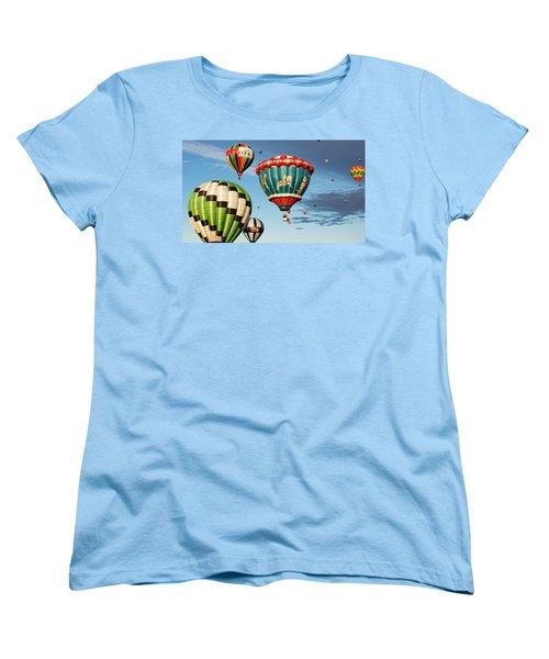 Balloons Away Women's T-Shirt (Standard Cut) by Dave Files