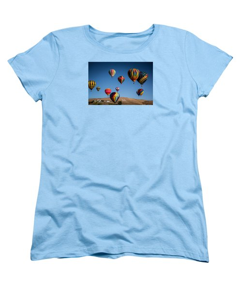 Balloons Over Northern Nevada Women's T-Shirt (Standard Cut) by Janis Knight