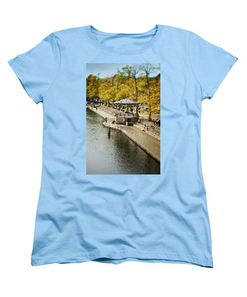 Bandstand In Chester Women's T-Shirt (Standard Cut) by Meirion Matthias