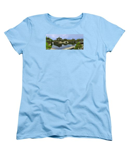 Women's T-Shirt (Standard Cut) featuring the photograph Baomo Garden Temple by Nicola Nobile