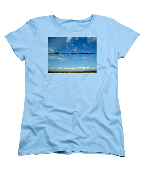 Women's T-Shirt (Standard Cut) featuring the photograph Barbed Sky by Nina Ficur Feenan