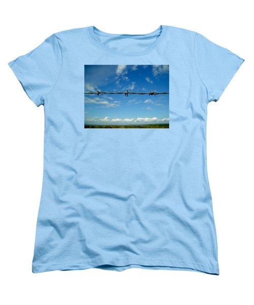 Barbed Sky Women's T-Shirt (Standard Cut) by Nina Ficur Feenan