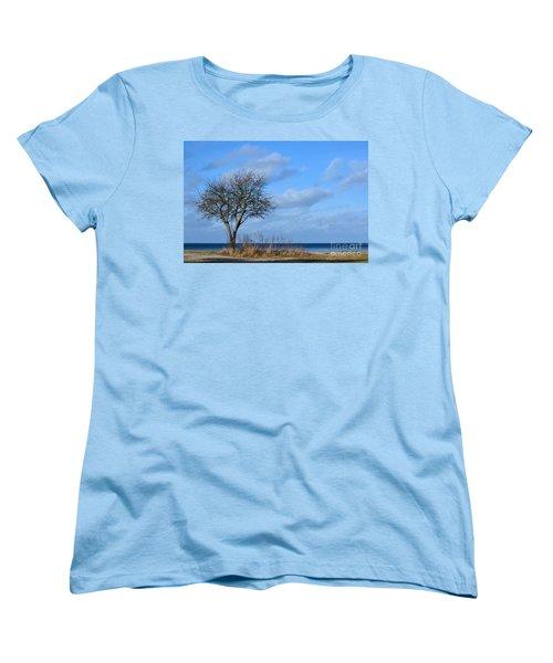 Women's T-Shirt (Standard Cut) featuring the photograph Bare Single Tree by Kennerth and Birgitta Kullman