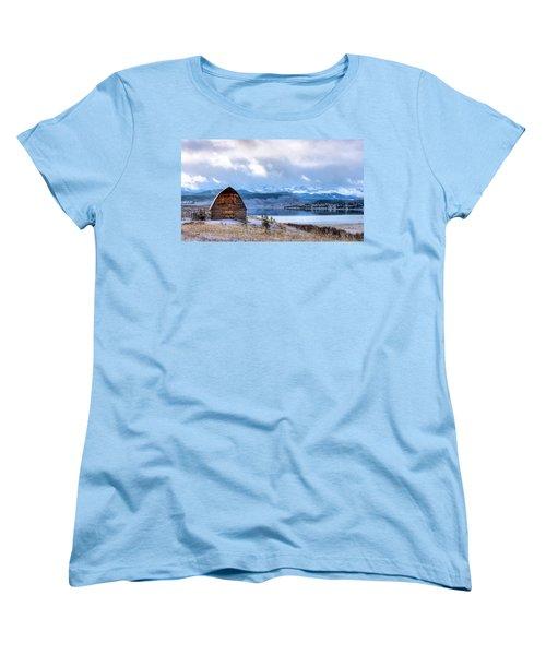 Barn At The Lake Women's T-Shirt (Standard Cut) by John McArthur