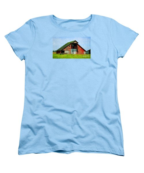 Barn - Central Illinois - Luther Fine Art Women's T-Shirt (Standard Cut) by Luther Fine Art