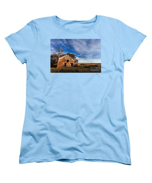 Barn In The Midwest Women's T-Shirt (Standard Cut) by Steven Reed