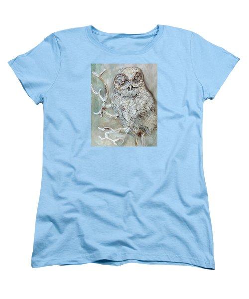 Barn Owl Women's T-Shirt (Standard Cut) by Enzie Shahmiri