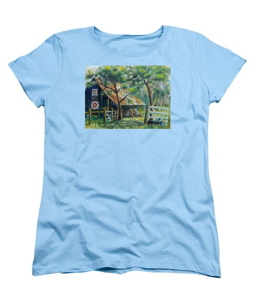 Barn Quilt Women's T-Shirt (Standard Cut) by William Reed