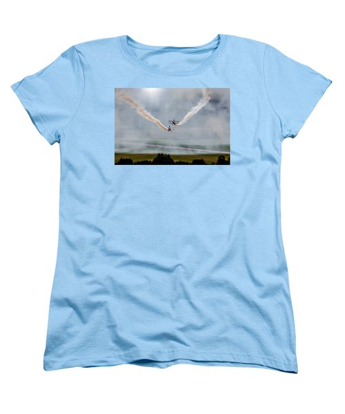Women's T-Shirt (Standard Cut) featuring the photograph Barnstormer Late Afternoon Smoking Session by Chris Lord