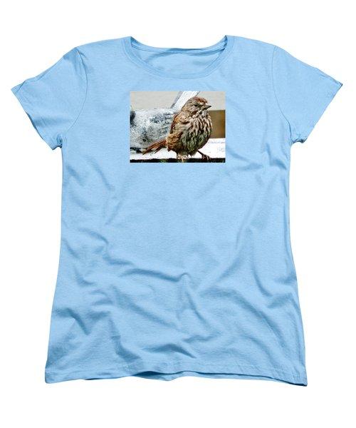 Women's T-Shirt (Standard Cut) featuring the photograph Bathe Then Fluff by VLee Watson