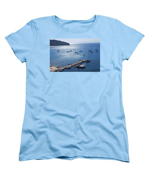 Women's T-Shirt (Standard Cut) featuring the photograph Bay Of Porto by George Katechis