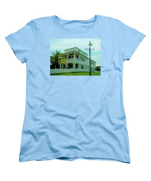 Beach House - Bay Saint Louis Mississippi Women's T-Shirt (Standard Cut) by Deborah Lacoste