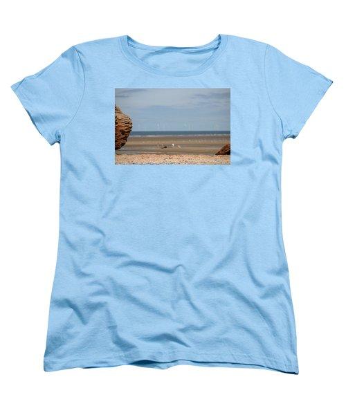Beach Women's T-Shirt (Standard Cut) by Spikey Mouse Photography