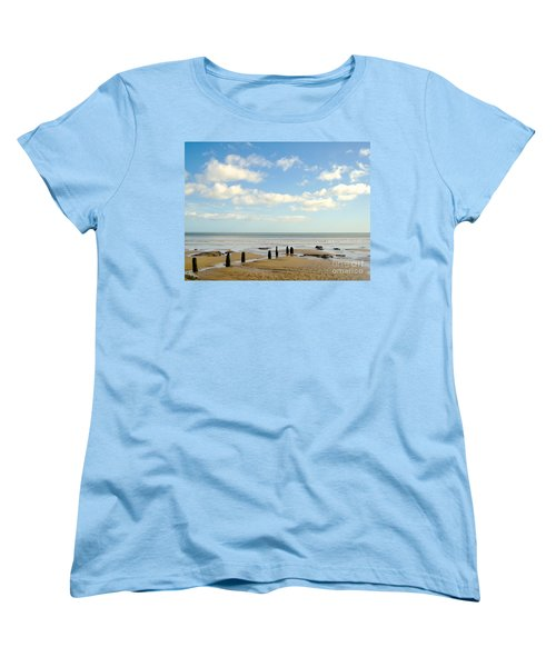 Women's T-Shirt (Standard Cut) featuring the photograph Beach Skies by Suzanne Oesterling