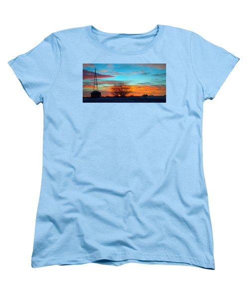 Beautiful Mornin' Panorama Women's T-Shirt (Standard Cut) by Bonfire Photography