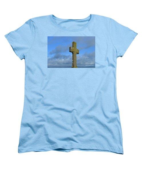 Beautiful Stone Cross In Ireland Women's T-Shirt (Standard Cut) by DejaVu Designs
