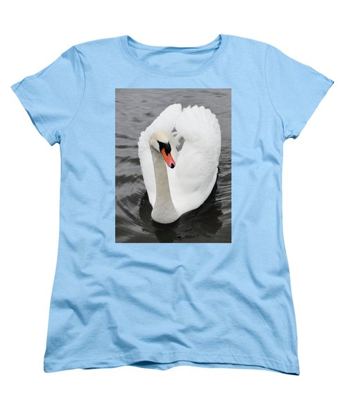Women's T-Shirt (Standard Cut) featuring the photograph Beautiful Swan by Tiffany Erdman