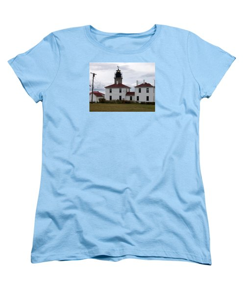 Beavertail Lighthouse Women's T-Shirt (Standard Cut) by Catherine Gagne
