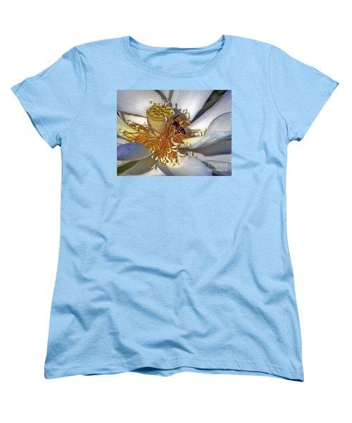 Bee On Lotus Women's T-Shirt (Standard Cut) by Savannah Gibbs