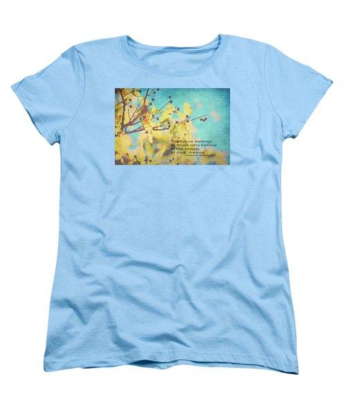 Believe In Dreams Women's T-Shirt (Standard Cut) by Toni Hopper