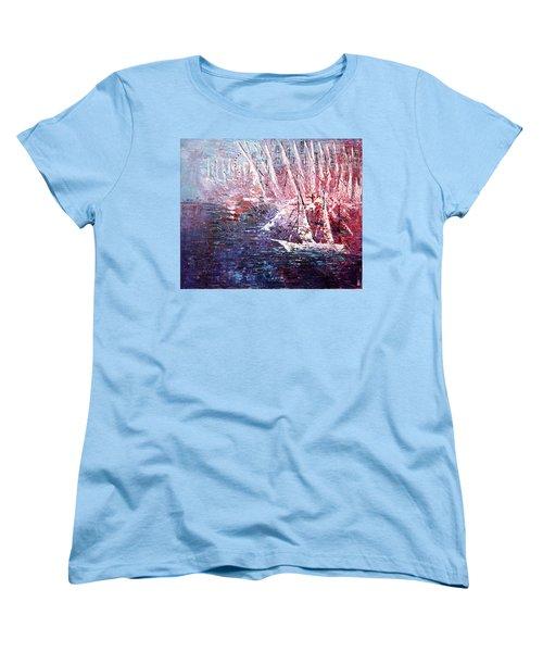 Belmont Turn  Women's T-Shirt (Standard Cut) by George Riney