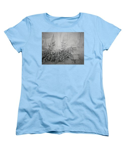 Women's T-Shirt (Standard Cut) featuring the drawing Bernheim Forest Plant by Stacy C Bottoms