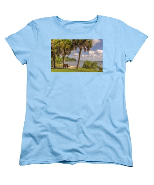 Women's T-Shirt (Standard Cut) featuring the photograph Beside The Shore by Jane Luxton