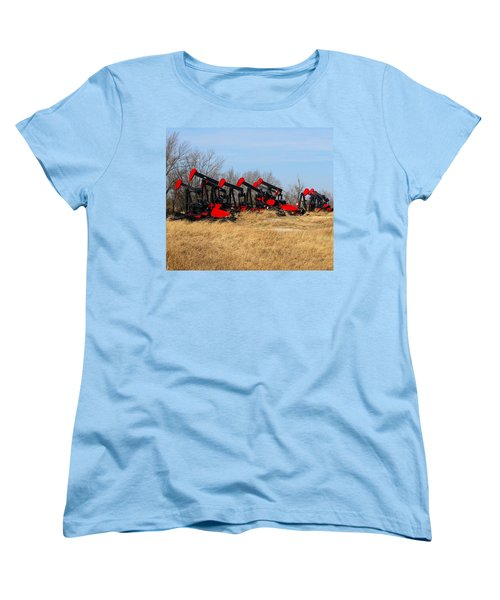 Bethlehem Pump Jacks Women's T-Shirt (Standard Cut) by Keith Stokes