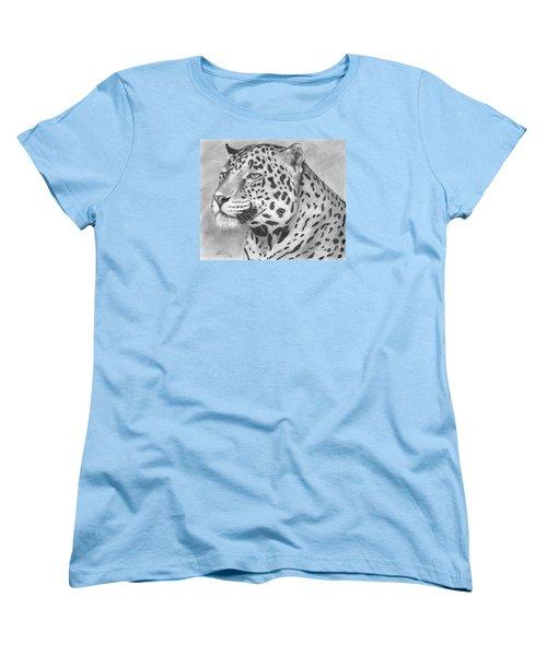 Big Cat Women's T-Shirt (Standard Cut) by Lena Auxier
