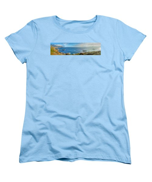 Big Sur Coast Pano 2 Women's T-Shirt (Standard Cut)