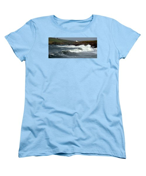 Big Swell In Dingle Bay Women's T-Shirt (Standard Cut) by Barbara Walsh